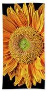 Abstract Sunflower Bath Towel