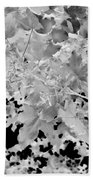 Abstract Tree Landscape Dark Botanical Art Black Noir Bath Towel