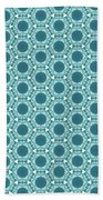 Abstract Turquoise Pattern 2 Bath Towel