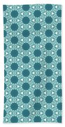 Abstract Turquoise Pattern 3 Hand Towel