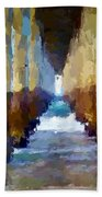 Abstract Under Pier Beach Bath Towel