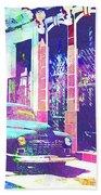 Abstract Watercolor - Havana Cuba Classic Car I Bath Towel