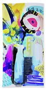 Abstract Wild Flowers Bath Towel