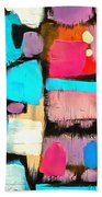 Abstract Wine Bottles Blue Red Bath Towel