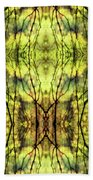 Abstract Yellow Trees Bath Towel
