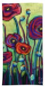 Abstracted Poppies Bath Towel