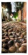 Acorn Street Cobblestone Detail Boston Ma Bath Towel