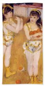 Acrobats At The Cirque Fernando Francisca And Angelina Wartenberg 1879 Bath Towel