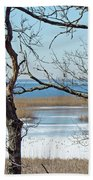 Across The Marsh To Woodneck Beach - Cape Cod Bath Towel