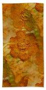 Acryl Painting Goldflowers Bath Towel