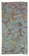 Acrylic Stickmen Character Painting Bath Towel