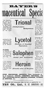 Ad For Bayers Drugs, Including Heroin Bath Towel