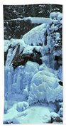 Adam Jewell Hiking In Maligne Canyon Bath Towel