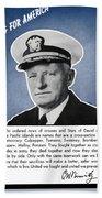 Admiral Nimitz Speaking For America Bath Towel