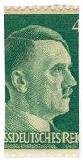 Adolf Hitler 42 Pfennig Stamp Classic Vintage Retro Bath Towel