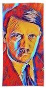 Adolf Hitler, Leaders Of Wwii Series.  Bath Towel