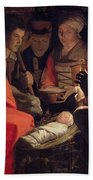 Adoration Of The Shepherds Hand Towel