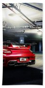 Adv1 Red Porsche 2 Bath Towel