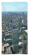Aerial Abstract Toronto Bath Towel