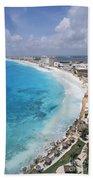 Aerial Of Cancun Bath Towel