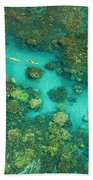 Aerial Of Two Kayakers Hand Towel