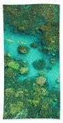 Aerial Of Two Kayakers Bath Towel