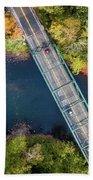 Aerial View Of A Bridge Bath Towel