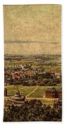 Aerial View Of Berkeley California In 1900 On Worn Distressed Canvas Bath Towel