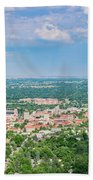 Aerial View Of The Beautiful University Of Colorado Boulder Bath Towel