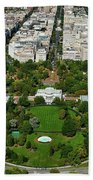 Aerial View Of The White House Bath Towel