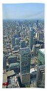 Aerial View Of Toronto Looking North Bath Towel