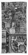 Aerial View Of Union Square Bath Towel