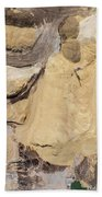 Aerial View Over The Sandpit. Industrial Place In Poland. Hand Towel