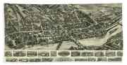 Aero View Of Watertown, Connecticut  Hand Towel