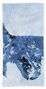Afghan Hound-blue Bath Towel