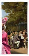 Afghan Hound-politicians In The Tuileries Gardens  Canvas Fine Art Print Bath Towel