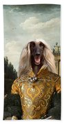 Afghan Hound-the Afternoon Promenade In Rome  Canvas Fine Art Print Bath Towel