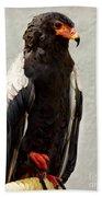 African Eagle-bateleur II Bath Towel