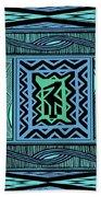 African Blue Bird Bath Towel