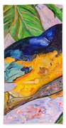 African Blue Eared Starling Bath Towel