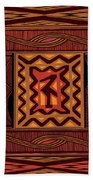 African Collage Rust Bath Towel