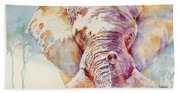 African Elephant _ The Governor Bath Towel