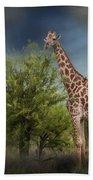 African Giraffe Bath Towel