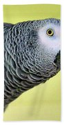 African Grey Bath Towel