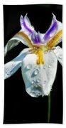 African Iris Raindrops Bath Towel
