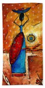 African Queen Original Madart Painting Bath Towel