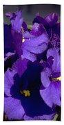 African Violets Bath Towel