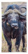 African Water Buffalo And Friends Bath Towel