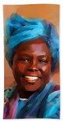 African Woman Bath Towel