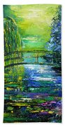 After Monet Bath Towel